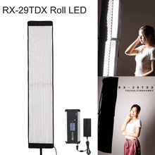 FalconEyes RX-29TDX Rollable Cloth LED Fill-in Light Lamp Lighting Panel 100W Bi-Color 3000K-5600K CRI95 for Studio Photography