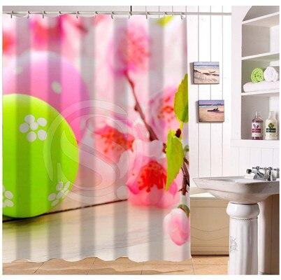 U412 32 Custom Home Decor Holidays Happy Easter Fabric Modern Shower ...
