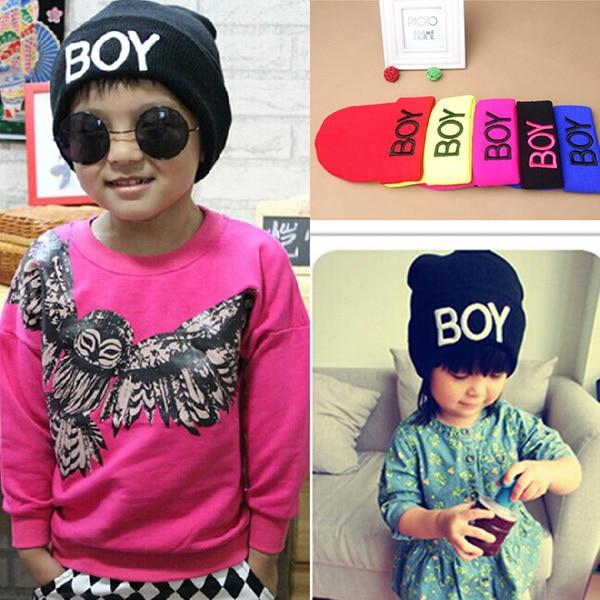 Toddler 1-8Y Baby Girl Boy Winter BOY Skull Hat Warm Beanie Caps Woolen Hats