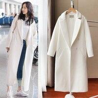 Новое Осеннее Женское пальто Harajuku уличная женская одежда Корейский плюс размер бархатная куртка шерстяное пальто белое шерстяное пальто ж...
