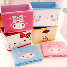 Cartoon Hello Kitty My Melody Cinnamoroll Dog Pudding Dog The Little Twin Star Cute Cosmetic Bags Toy Folding Storage Box Bag sheepet sp120452 my melody hello kitty