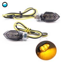 4 шт. мини мотоцикл 5LED дым объектив поворотов Световой индикатор мигалка Янтарный мотоцикл на заказ DIY езда на велосипеде лампы для мотоциклов