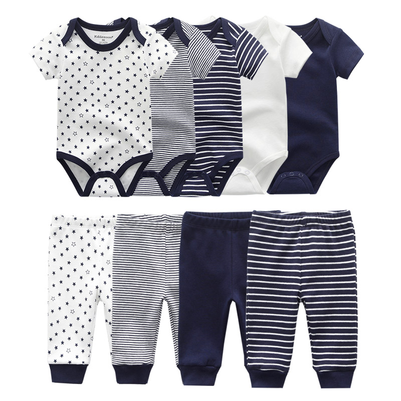 Image 3 - 2019 Solid Bodysuits+Pants Baby Boy Clothes Clothing Sets 0 12M Baby Girl Clothes Unisex Newborn Girls Baby Cotton Roupa de bebe-in Clothing Sets from Mother & Kids