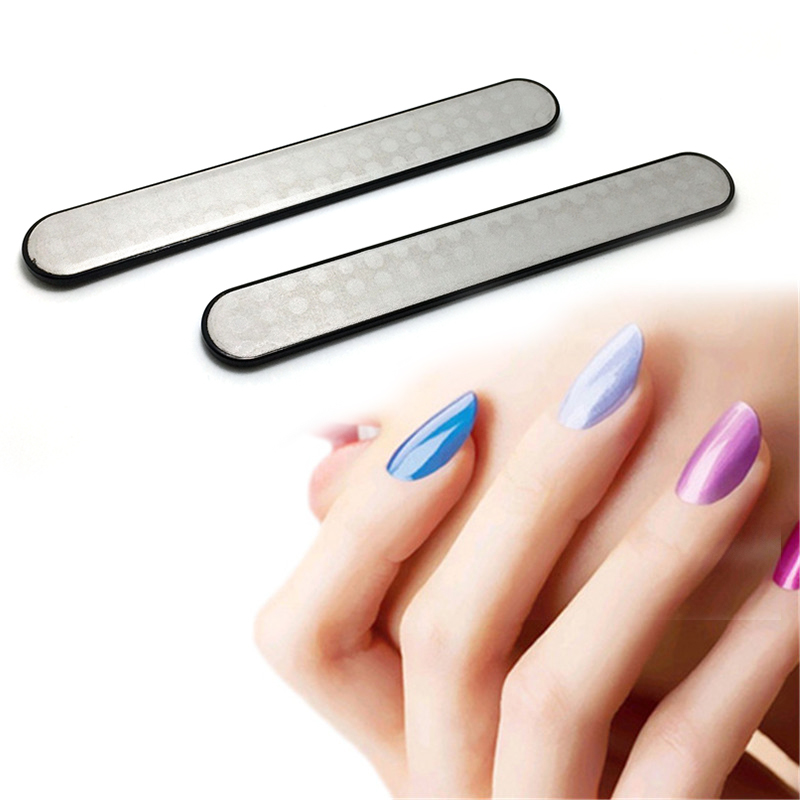 1 Pcs Professional Nail File Double Sided Stainless Steel Nail Sanding Polishing Grinding Nail Art Manicure Beauty Tools