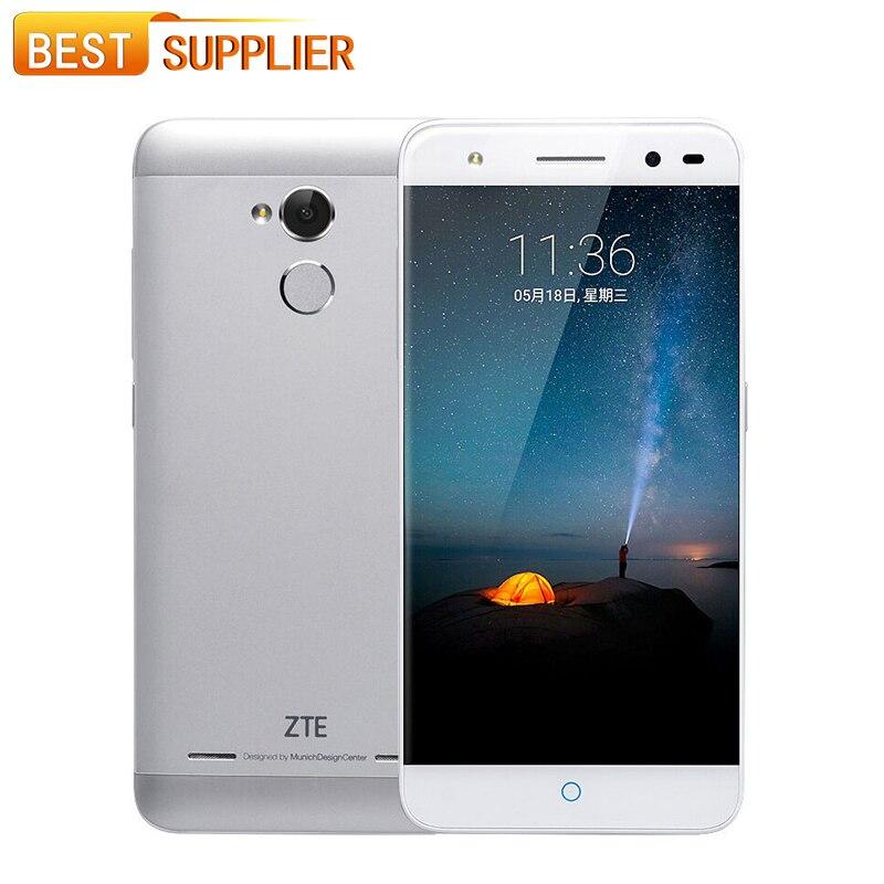 Цена за Zte blade a2 mt6750 окта основные android 5.1 2 ГБ ram 16 ГБ/32 ГБ ROM 5.0 Дюймов Отпечатков Пальцев 4 Г LTE 13.0MP Dual SIM Мобильный Телефон