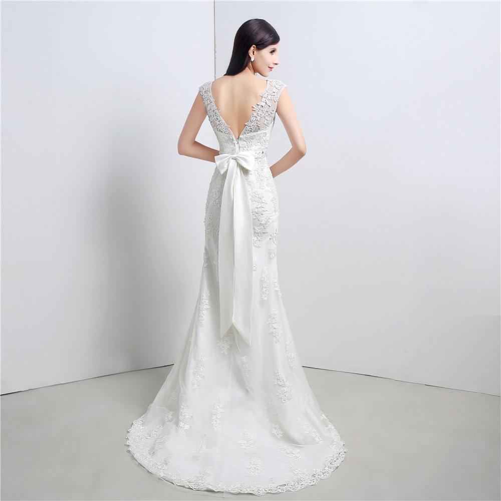 ruthshen Modest Mermaid Wedding Dresses Cheap 2017 New Appliques Lace Beaded  Sash Slim Bridal Dress Gowns Under 100. 186 188 ... 05b672e702a0