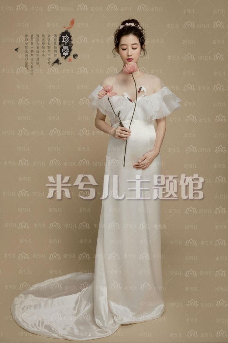 New Pregnant Maternity Women Photography Fashion Props Dress Romatic