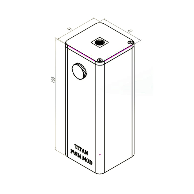 100% Original Steam Crave Titan PWM VV Box MOD 300W Fit Huge Tanks From Diameter 30mm To 41mm No 18650 Battery E-cigarette Mod 1
