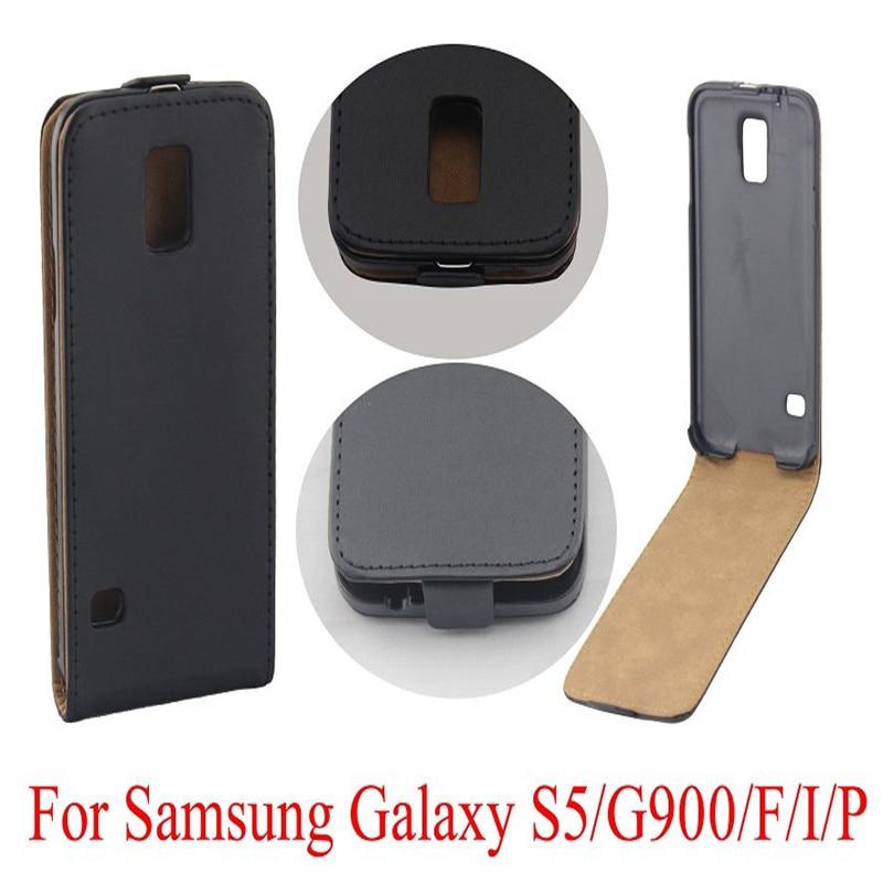 Vertikale PU Leder Flip Case Fundas Capa Für Samsung Galaxy S5 i9600 - Handy-Zubehör und Ersatzteile
