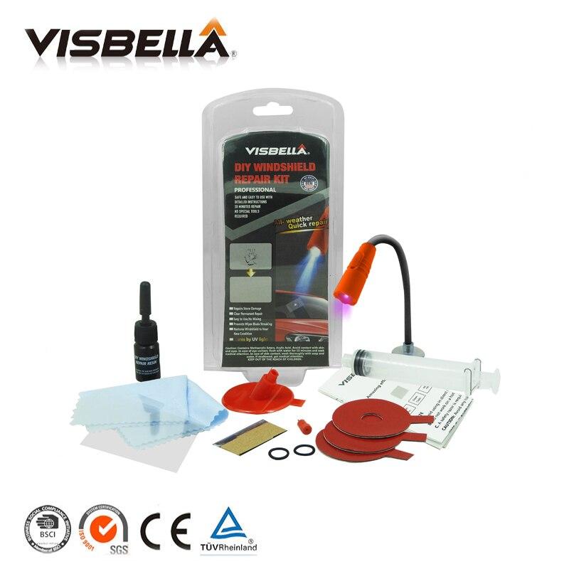 Visbella windschutzscheibe reparatur kit Auto fenster reparatur polieren Windschutz Glas erneuerung Werkzeug Auto Scratch Chip Riss Wiederherstellung fix DIY