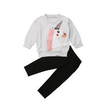 Toddler Kid Baby Girl Unicorn Tops Long Sleeve Sweatshirt Long Pant Outfit Tracksuit Clothes Set 2019 casual toddler kids baby boy girl clothes to do list long sleeve t shirt tops pant 2pcs outfit spring autumn suit tracksuit 1 6y