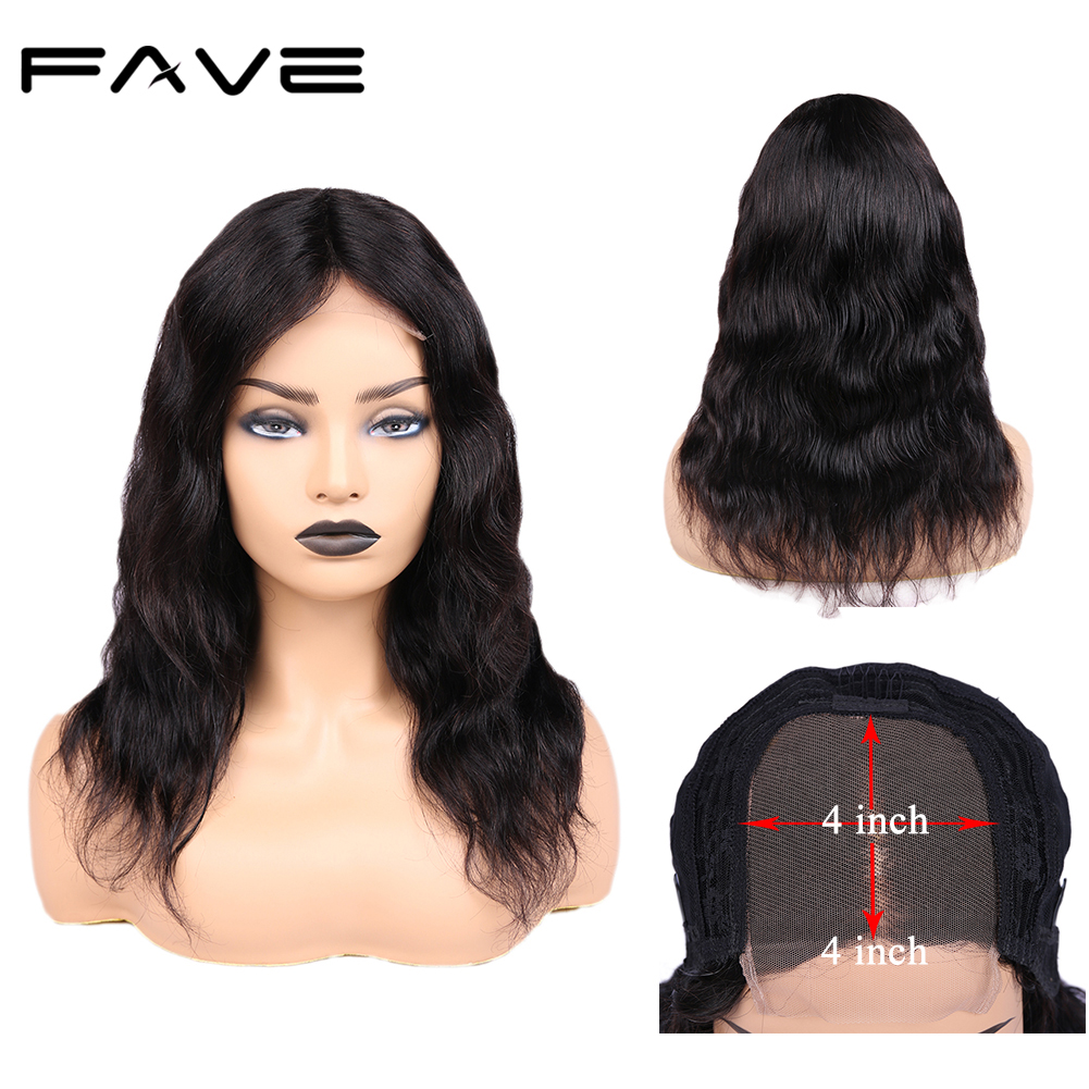 Brazilian Human Hair Wigs 4 4 Lace Closure Natural Wave Remy Hair Wigs Pre Plucked Natural