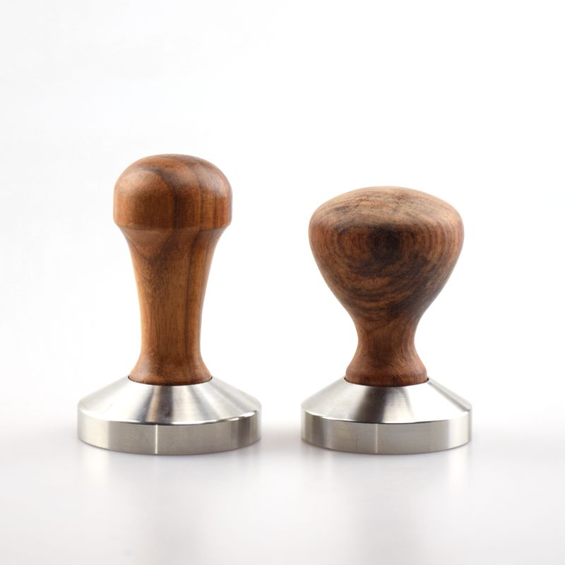 1 PC Espresso Coffee Tamper Wooden Handle with stainless stell base 49MM 51MM 53MM 57MM 58MM