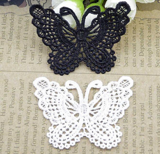 1 шт. бабочка кружева нашивки вышивка Свадебная Аппликация отделка Одежда Аксессуары