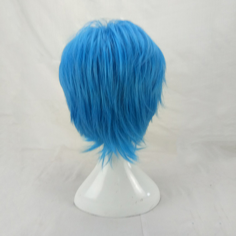 HAIRJOY Synthetic Hair Man Mint Green Layered Short Straight Male Cosplay Wig Free Shipping 5 Colors Available 56