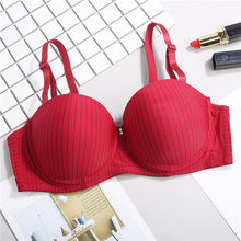 Fatimu Ultra-thin Cup Striped Half Bras Seamless Underwire Lingerie Woman Beading Invisible for Hot