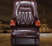 Real leather luxurious reclining chair. Four-legged computer chair. Fixed armrest leather art office chair.22 replica fritz hansen swan chair leather