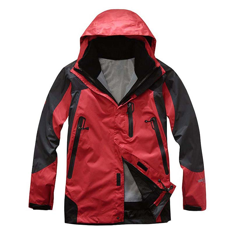 High quality Outdoor Hiking Jacket Waterproof Windproof Jacket 3 in 1 Two-piece Climbing Hiking Men Soft shell Camping Jacket