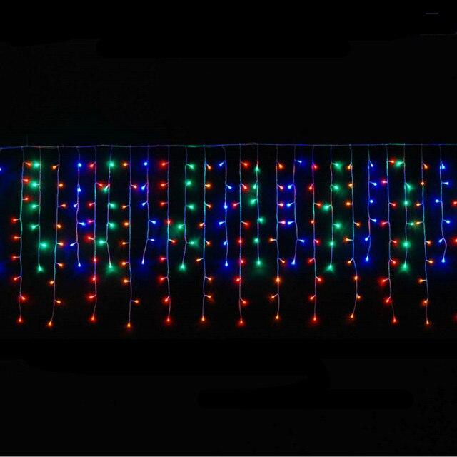 3m*0.6m*0.4m 100LEDS Led Christmas Lights 110VAC 220VAC EU US Plug LED String curtain light home garden festival lights