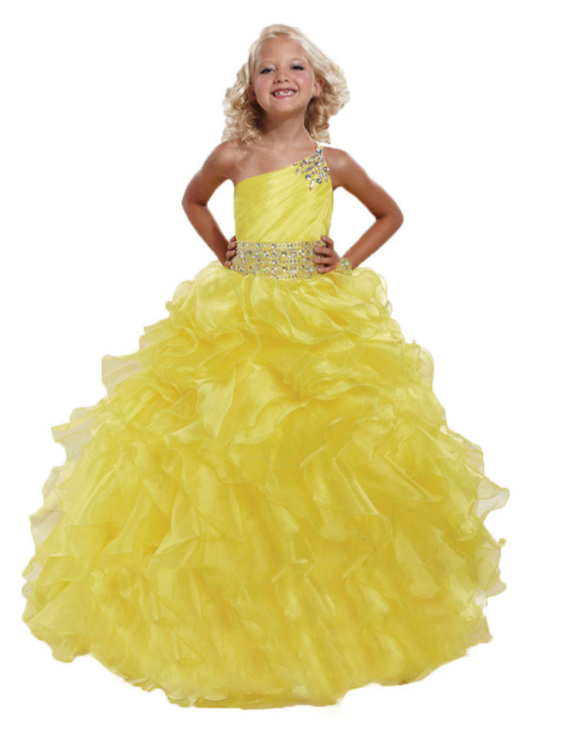 Popular Yellow Pageant Dresses-Buy Cheap Yellow Pageant Dresses ...