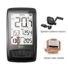 M4, беспроводной Велосипедный компьютер, измеритель скорости велосипеда с датчиком скорости и каденции, можно подключить Bluetooth ANT+(установить монитор сердечного ритма