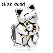 Браслет pandora с шармами браслет улыбающимся котом Обнимание