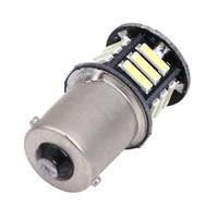 12V 500 Lumen 2x Canbus No Error White LED Tail Backup Reverse Light Bulb BA15S 1156
