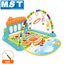 Baby Activity Gym Play Mat Carpet Toys Kid Crawling Game Develop Mat With Piano Keyboard Infant Rug Early Educational Rack Toy(China)