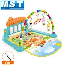 Baby Aktivität Fitnessraum Spielen Matte Teppich Spielzeug Kind Krabbeln Spiel Entwickeln Matte Mit Klavier Tastatur Infant Teppich Frühen Pädagogisches Rack spielzeug