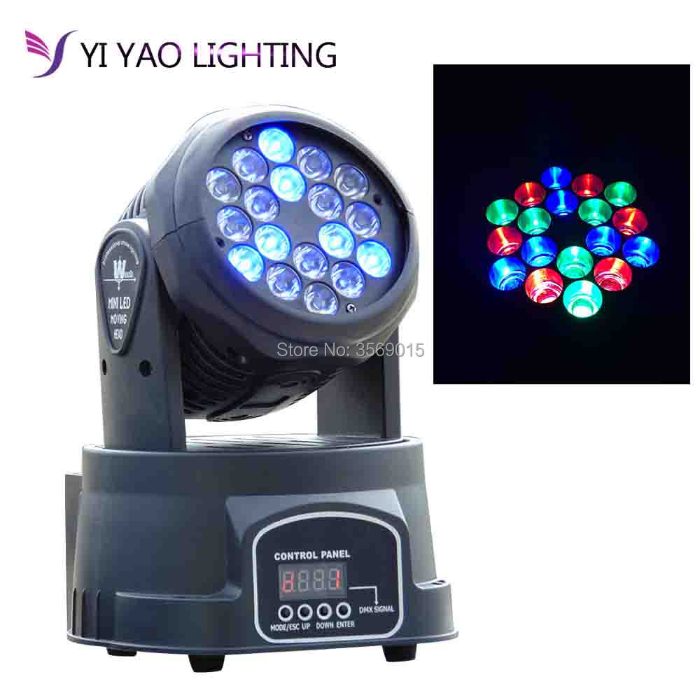 18x3w RGB LED Mini Moving Head Light Moving Head Beam Wash