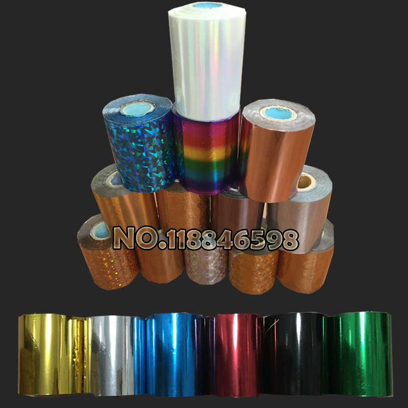 Free Ship DIY Transfer Hot Stamping Paper High Quality Hot Selling Hot Foil Stamping Colorful 80mmx120M Heat Stamping Foil Film
