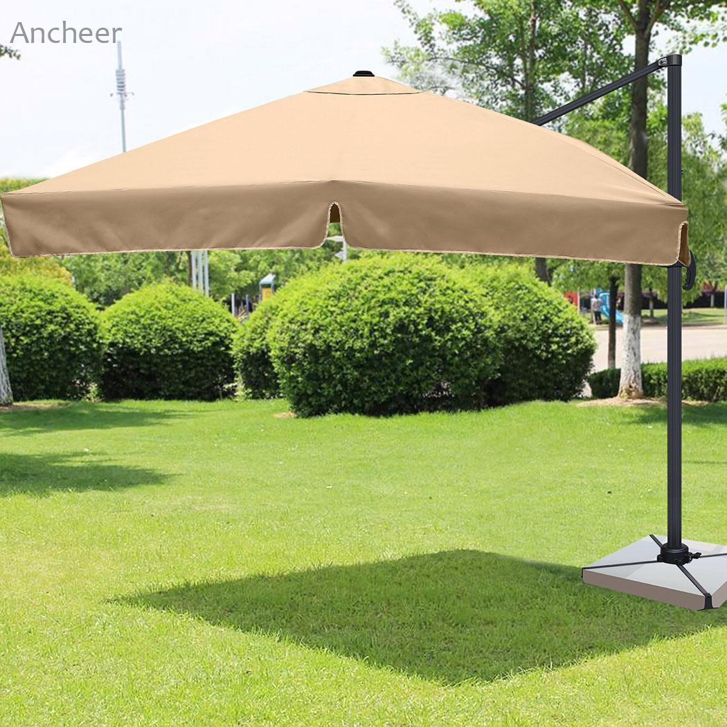 Sun Camping Shelter 3M Waterproof Garden Parasol Patio Sun Shade Hanging Umbrella