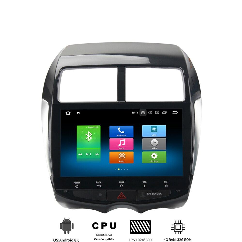 1 din Android 8.0 autós multimédia lejátszó a Mitsubishi ASX Citroen C4 Peugeot 4008 autórádióhoz IPS képernyővel 8 Core 4Gb + 32Gb