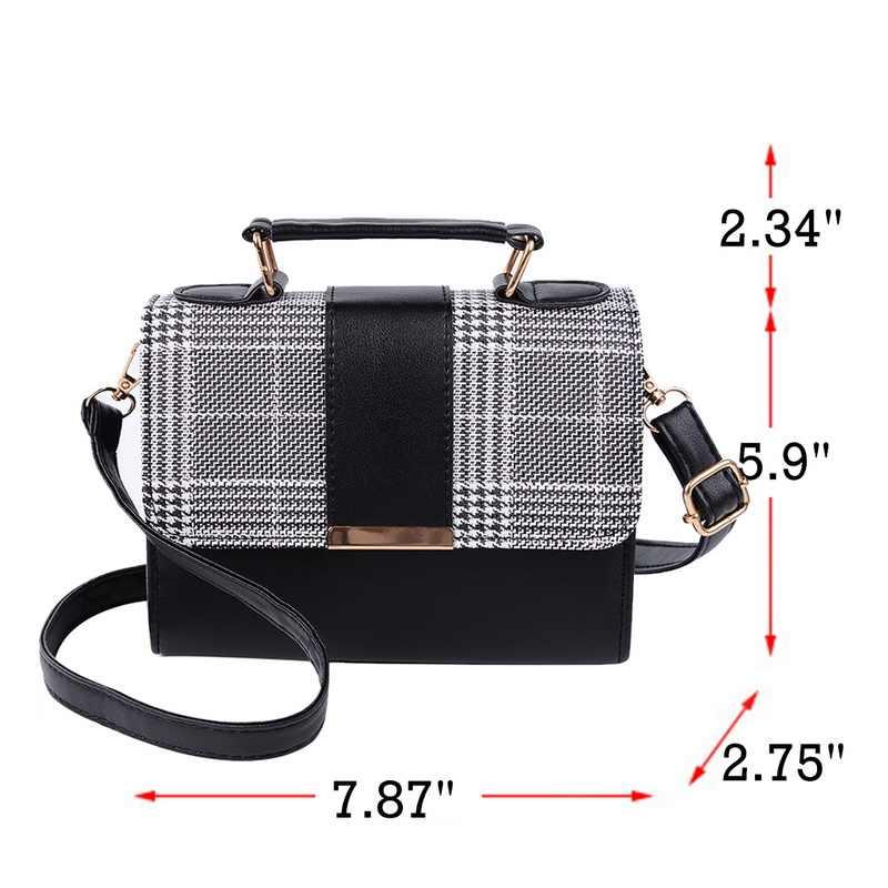 Bolsas De Couro Das mulheres Saco PU bolsa de Ombro Pequena Aba Crossbody para Sacos de Mulheres Mensageiro