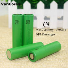 4PCS/lot New 100% Original 3.6V 18650 US18650VTC4 2100mAh 30A discharge Rechargeable battery For Electronic cigarette use
