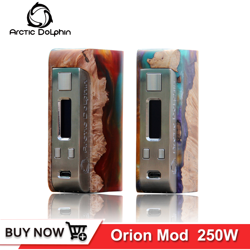 Original arctic dolphin Orion mod 250w Powered by 18650 Battery 0.96 inch Screen TC Vape