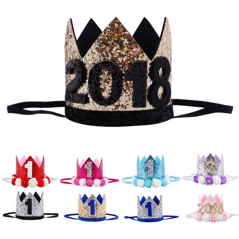 1ST cumpleaños rosa y oro Niña Fiesta Vajilla Fiesta Sombreros X 6 42e4f920e46