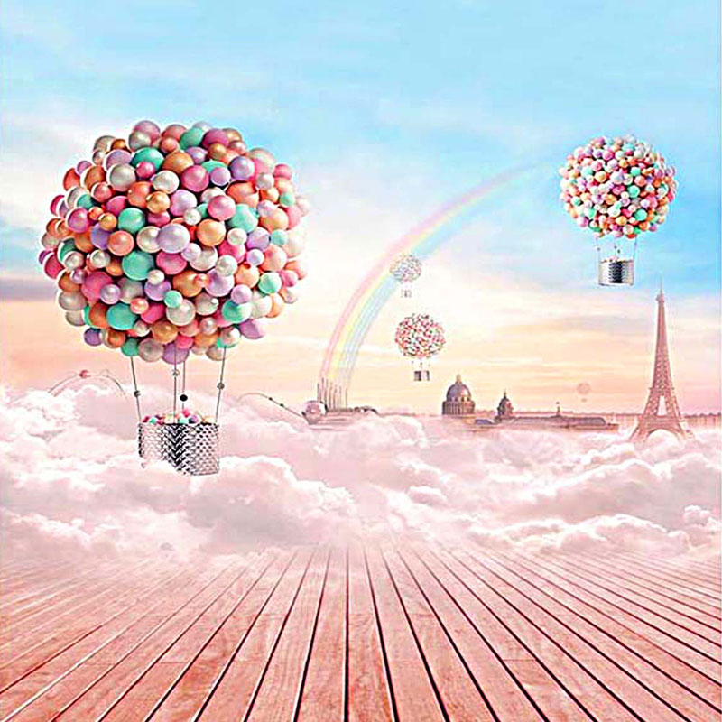 9.8x9.8FT Vinyl Balloon Rainbow Photography Background Backdrop Studio Props New 5feet 6 5feet background snow housing balloon photography backdropsvinyl photography backdrop 3447 lk