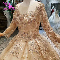 AIJINGYU Gown For Wedding Formal Gowns Plus Long Train Sex Removable Luxury Special Unique Wedding Dresses Hot