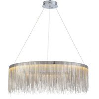 Round modern led Lustre the chains chandelier bedroom dining room light living room remote control chandeliers Lighting lamps