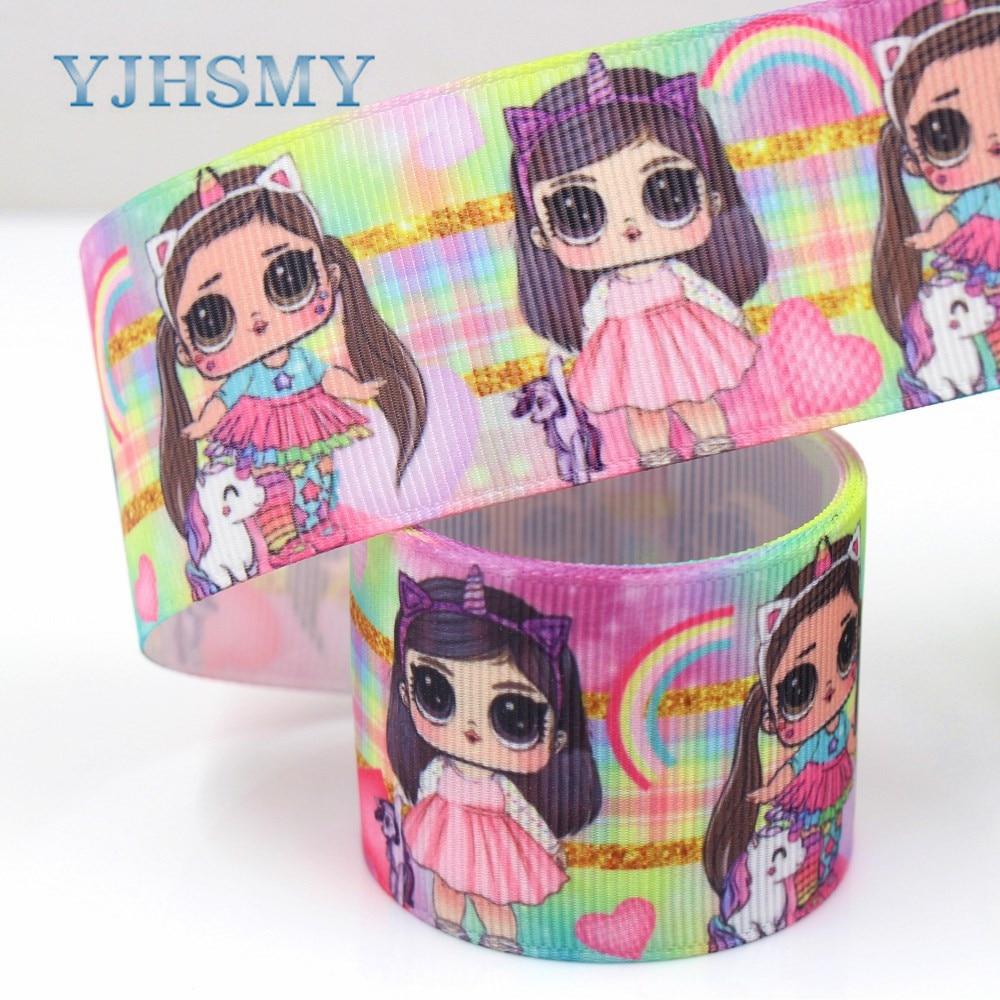 YJHSMY G-18925-1151, 10 метров, 38 мм с изображением Больших Глаз ленточки для девочек Термальность передачи печатные grosgrain, подарочная упаковка DIY материалы