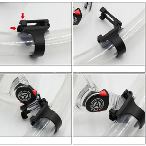 Universal Diving Silicone Snorkel Buckle Goggles Buckle Silicone Tube Buckle Silicone Soft Buckle
