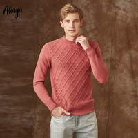 100% Pure Goat Cashmere Sweater Men Pullover Christmas Mens Jumper 2019 Knitted Autumn Winter Comfortable Oversized Sweater Xxxl