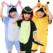 21 Colors Cotton Summer Girls Children Sleeper Short Sleeve Girl House Cosplay Cartoon Wear Girl Pajamas Bath Towel Clothes