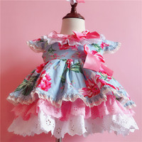 Baby girl clothes 2019 new small flowers printed princess dress girl newborn baby clothing Bebes Jogging Kids Christmas Outfit