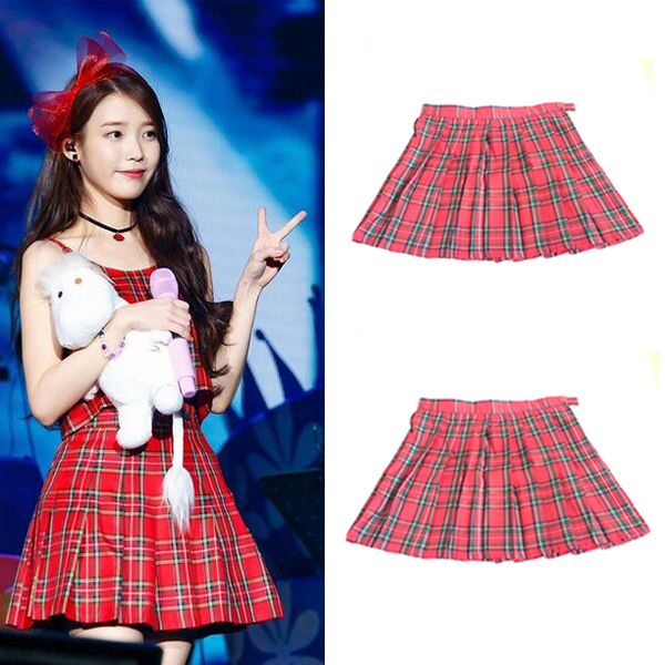 Free Shipping New 2016 Women Skirts HOT SALE Preppy Style Japanese School Uniform Plaid High Waist