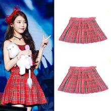 Hot 2017 High Waist Womens Skirts Preppy Style Kawaii Japanese School Uniform A line Plaid Short