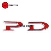PD 100 90 Tesla Model S Car Rear Sticker Badge Emblem 3D Custom Logo for Tesla Model S P100D P90D Auto Accessory