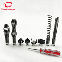 Sewer Snake Machine Accessories Soft Shaft 16mm 8pcs/PK Straight Bulb Restrieving Auger Blade Grease Sawtooth Cutter Pipe Clean