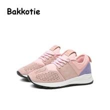 Bakkotie 2017 Mode Enfant Printemps Bébé Garçon Casual Sport Chaussures Loisirs Sneaker kid Marque Creux Fille Formateur Bébé Respirant